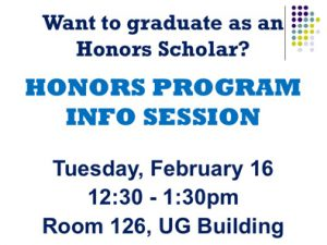2016 Honors Program Information Session