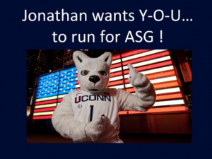 Jonathan wants Y-O-U to run for ASG